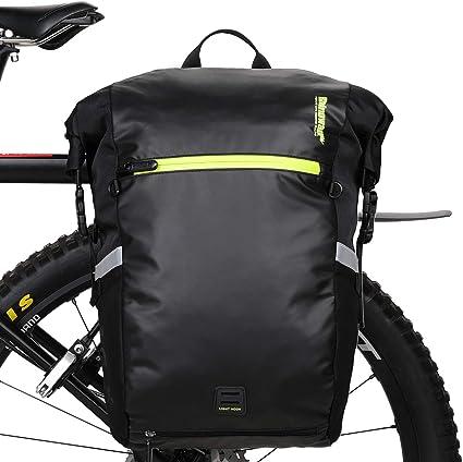 Bicycle Pack Bag 2in1 Pannier Bag Shoulder Bag or Double Bag