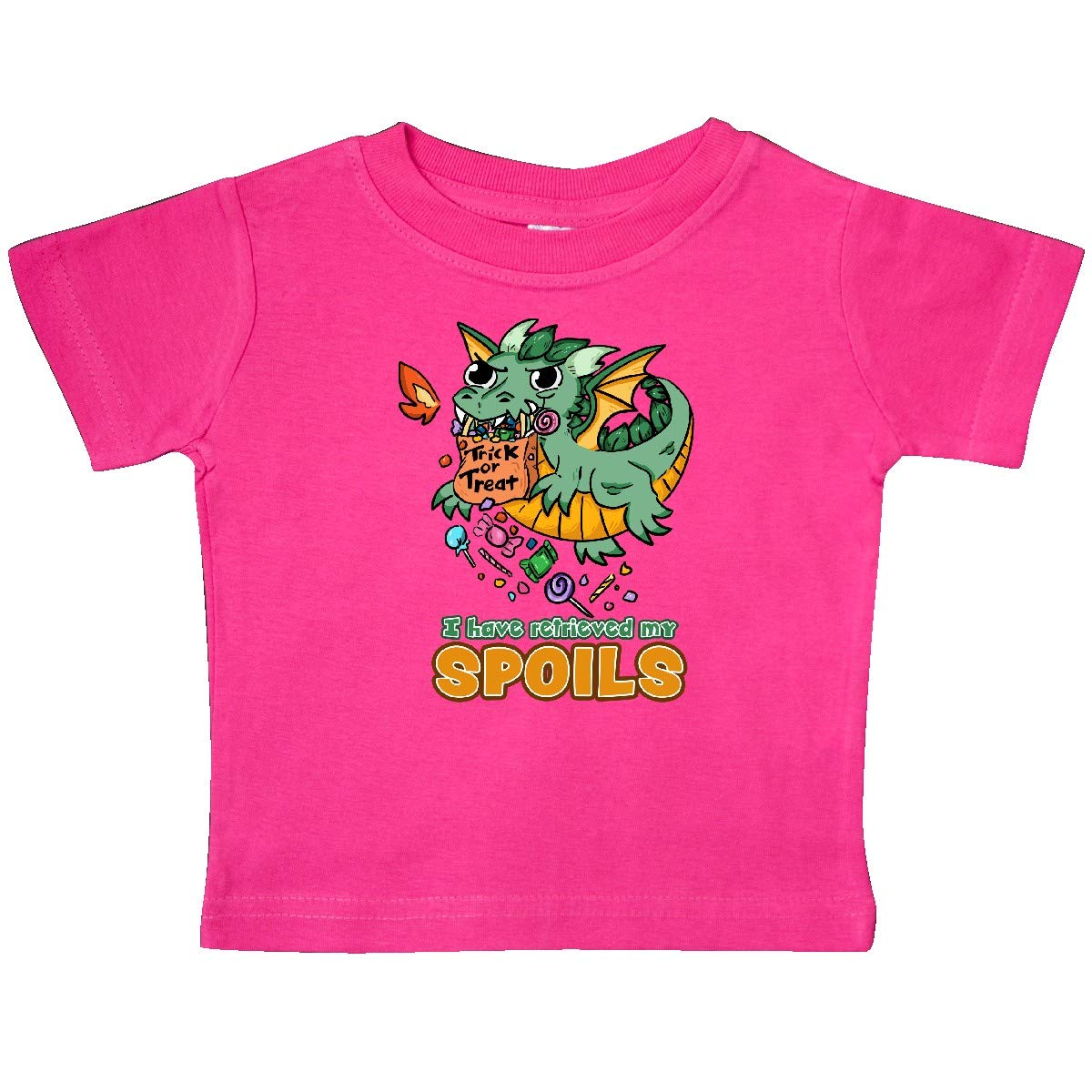 inktastic I Have Retrieved My Spoils Cute Halloween Dragon Baby T-Shirt
