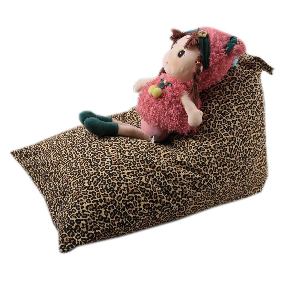 Cinhent Bag 1PC Kids Stuffed Animal Plush Toy Storage Bean Bag,Sand Bags Pouch Stripe Fabric Chair,Handle Home Storage,Double Zipper + Stitch, Seriously Super Soft (G)