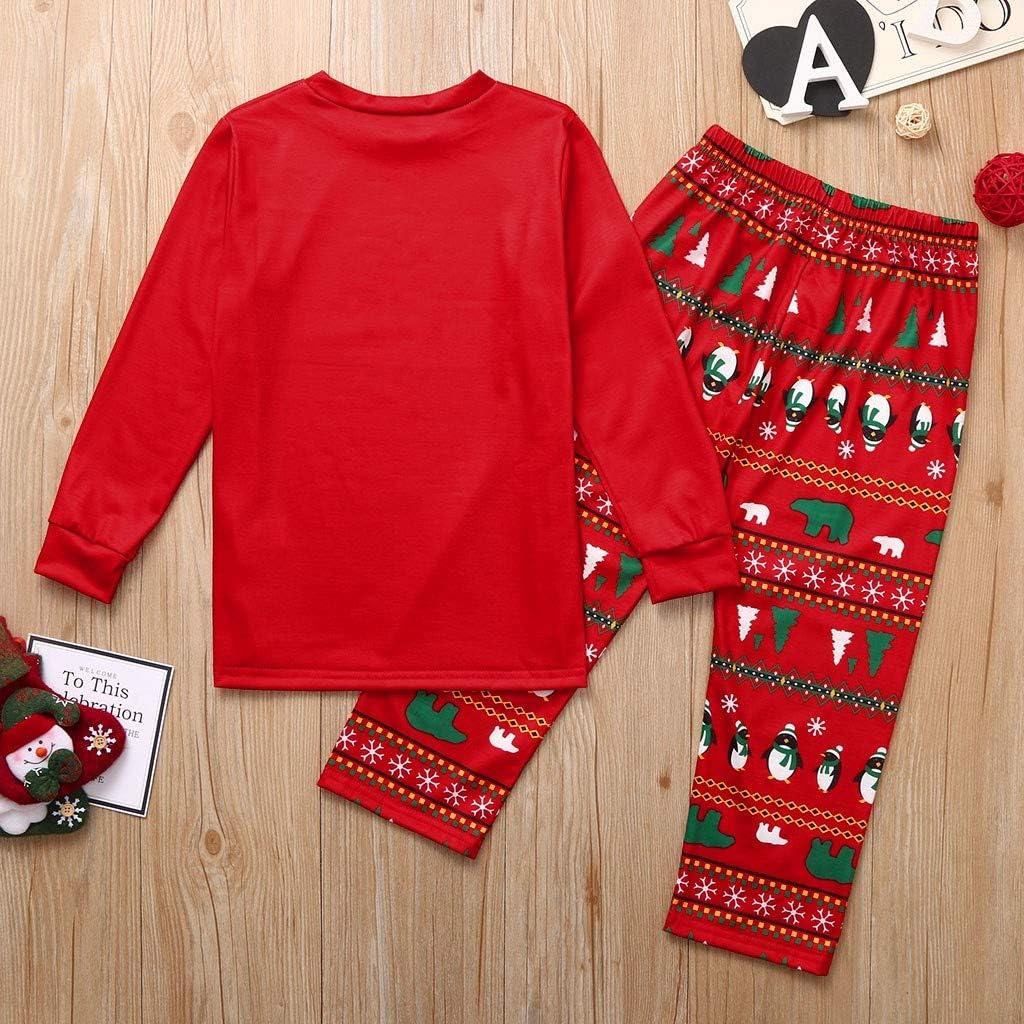 Weihnachten Schlafanzug Familie Pyjamas Set Plaid Weihnachten Bekleidungssets Nachtw/äsche Schlafanz/üge mit 2020-Merry-Christmas Motiv Nachtw/äsche f/ür Vater Mutter Kinder Baby