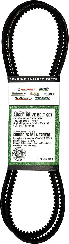 36 Length 0.38 Width D/&D PowerDrive 954-04201 Craftsman Replacement Belt