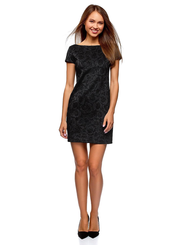 oodji Ultra Womens Printed Jersey Dress at Amazon Womens Clothing store: