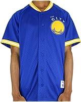 d2925877c72 Golden State Warriors Mitchell   Ness Seasoned Pro Men s Button Up Jersey  Shirt