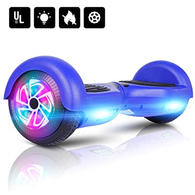 "LIEAGLE Hoverboard 6.5"" Two-Wheel Self Balancing Electric Scooter UL 2272 Certified with LED Lights Flash Lights Wheels: Sports & Outdoors"