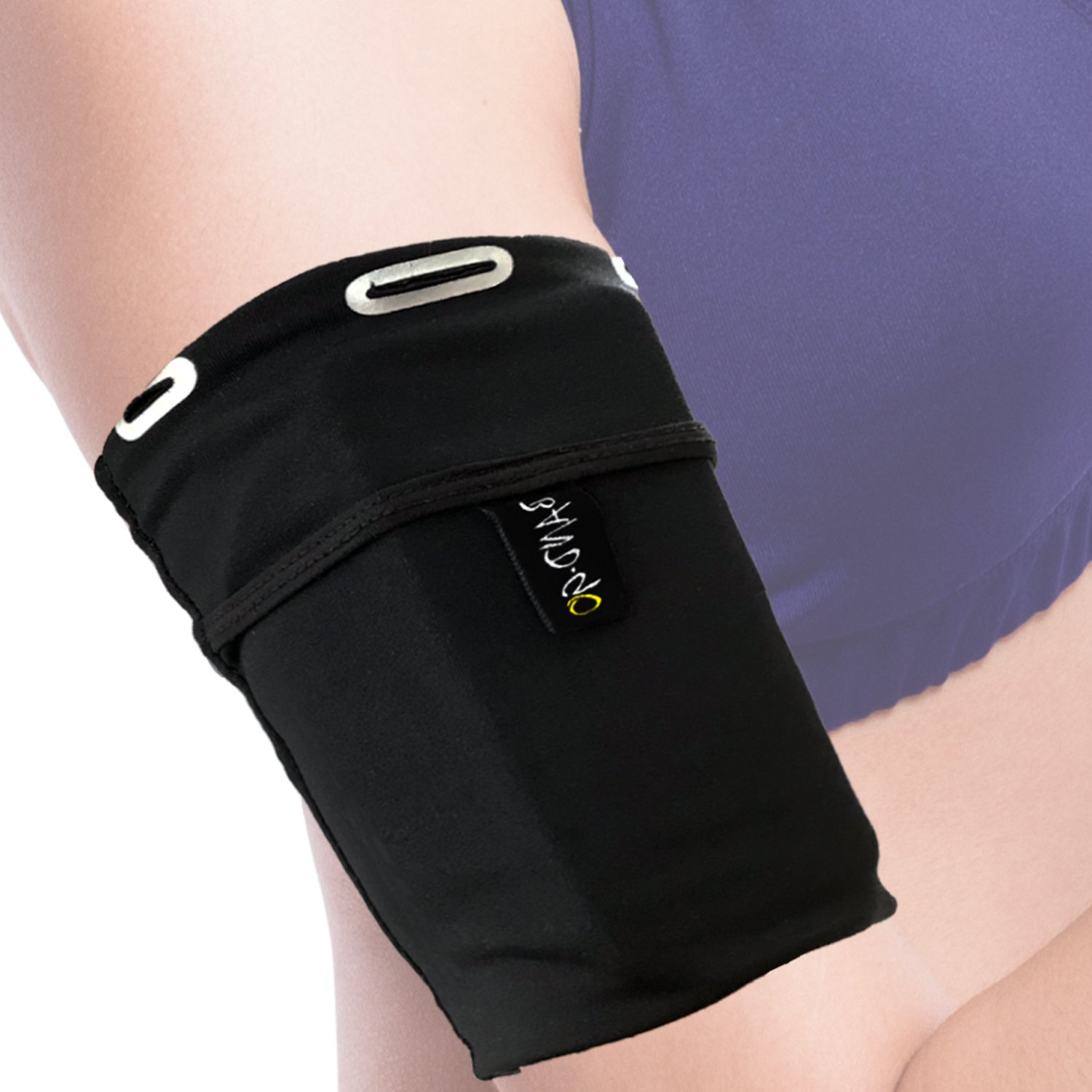 Universal Sports Armband for All Phones (iPhone X/8/7/6/XS/XR/Max/Plus,Samsung Galaxy S10/S9/S8/S7/Plus & LG,Google,Sony & More). Exercise Arm Holder for Running, Fitness and Gym Workouts. Medium