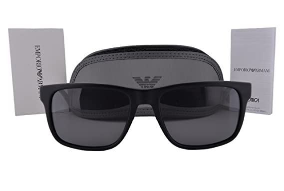 79949285cbf3 Emporio Armani EA4071 Sunglasses Matte Black w Polarized Gray Lens 504281 EA  4071 For Men  Amazon.co.uk  Clothing