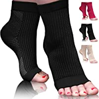 SprintEase Plantar Fasciitis Sock - Compression Foot Sleeves For Men & Women with Arch & Ankle Support. For Pain Relief, Heel Spur, Achilles Tendonitis & Swelling. Better Than Night Splint