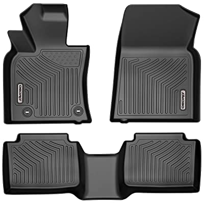 oEdRo Floor Mats Compatible for 2020-2020 Toyota Camry Standard Models, Unique Black TPE All-Weather Guard Includes 1st and 2nd Row: Front, Rear, Full Set Liners (Standard Models Only): Automotive [5Bkhe0809499]