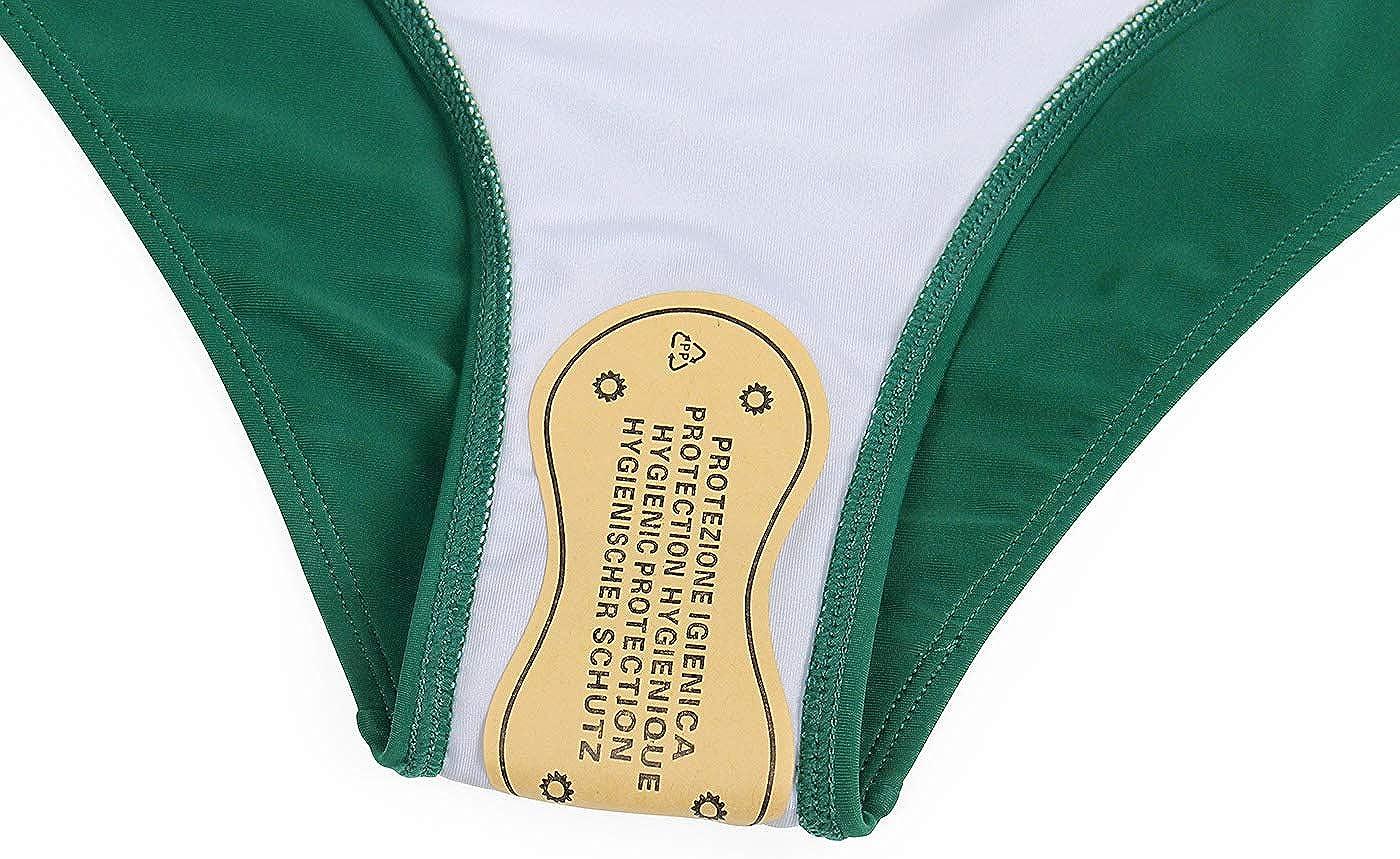 AmzBarley Damen Zweiteilige Bikini Set Ruffles Badeanzug High Waist Bikini Bottom Bademode