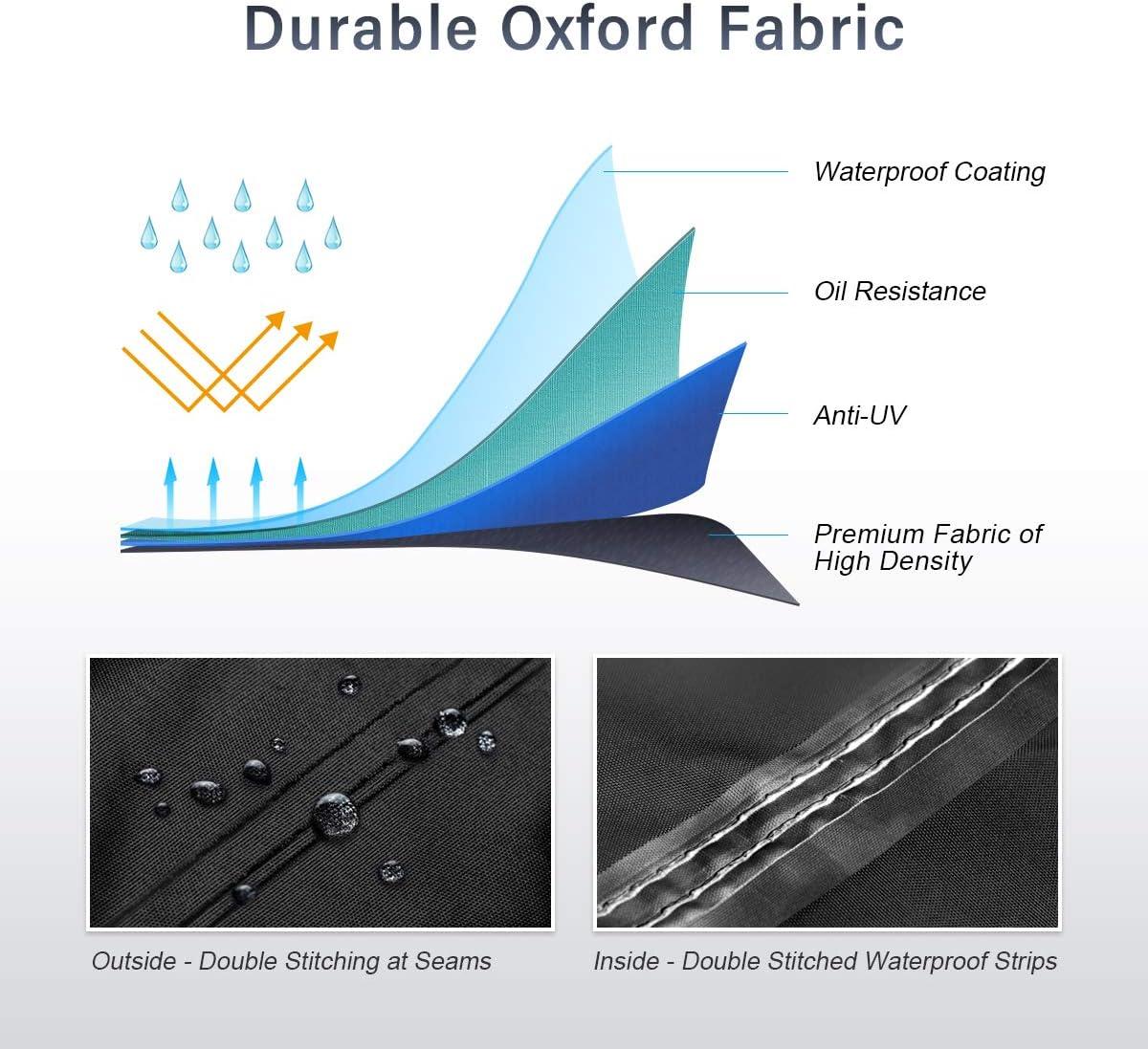 Offre Protezione all/'Aperto in Tutte le Stagioni Impermeabile 295 x 110 x 140 cm XYZCTEM Telo Coprimoto Tessuto Oxford Resistente Ultra Durevole