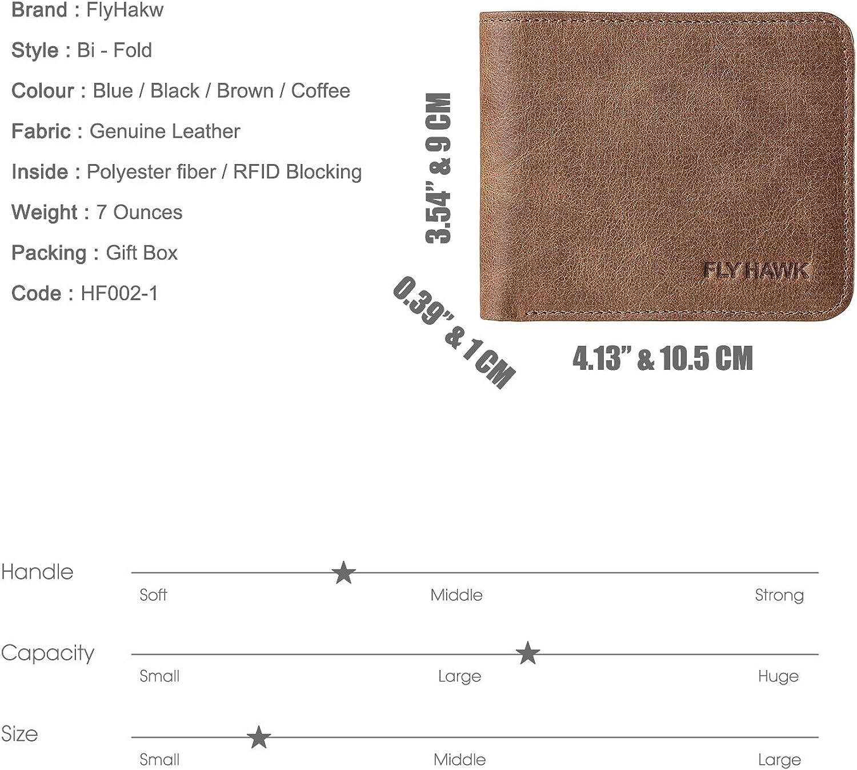 Best Handmade RFID Blocking Genuine Leather moneyclip fold Wallets for Men purse Credit Card wallet