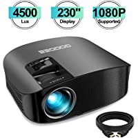 GooDee GD-600 HD 4500-Lumens LCD Home Theater Projector (Black)