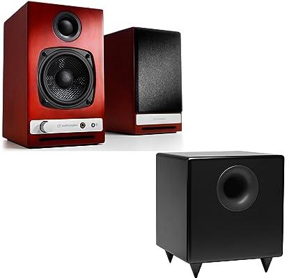 Audioengine HD3 Powered Bookshelf Speakers Pair S8 Black 8 Inch