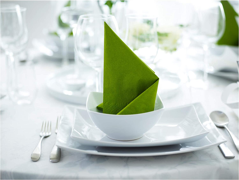 Serviette en papier vert moyen paquet de 50-24x24 cm IKEA FANTASTISK