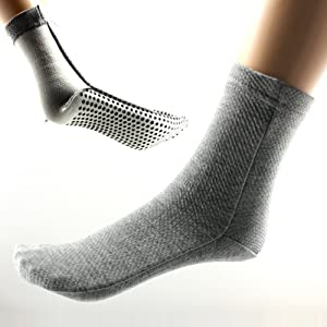 Power Ionics 1pair(2pcs) F.I.R Self Heat Magnetic Fiber Therapy Arthritis Thick Socks, HL024