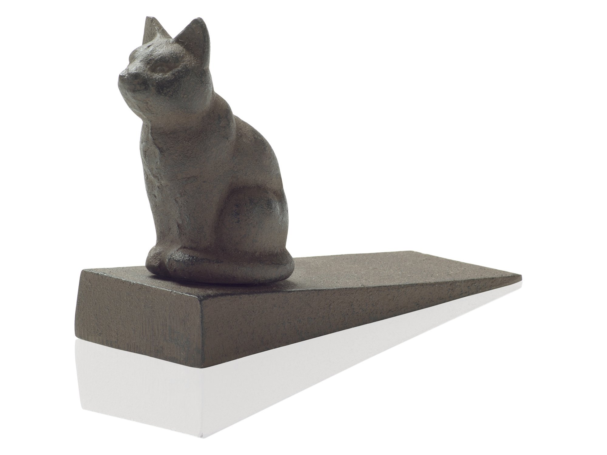 Comfify Vintage Cast Iron Cat Door Stop Wedge Lovely Decorative Finish, Padded Anti-Scratch Felt Bottom Protects Floors   in Rust Brown (Cat Door Stop CA-1507-12) by Comfify (Image #5)