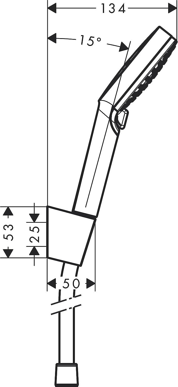 1,25 m ahorro de agua Blanco//Cromo Hansgrohe 26568400 Crometta Set de soporte de ducha con flexo 125 cm