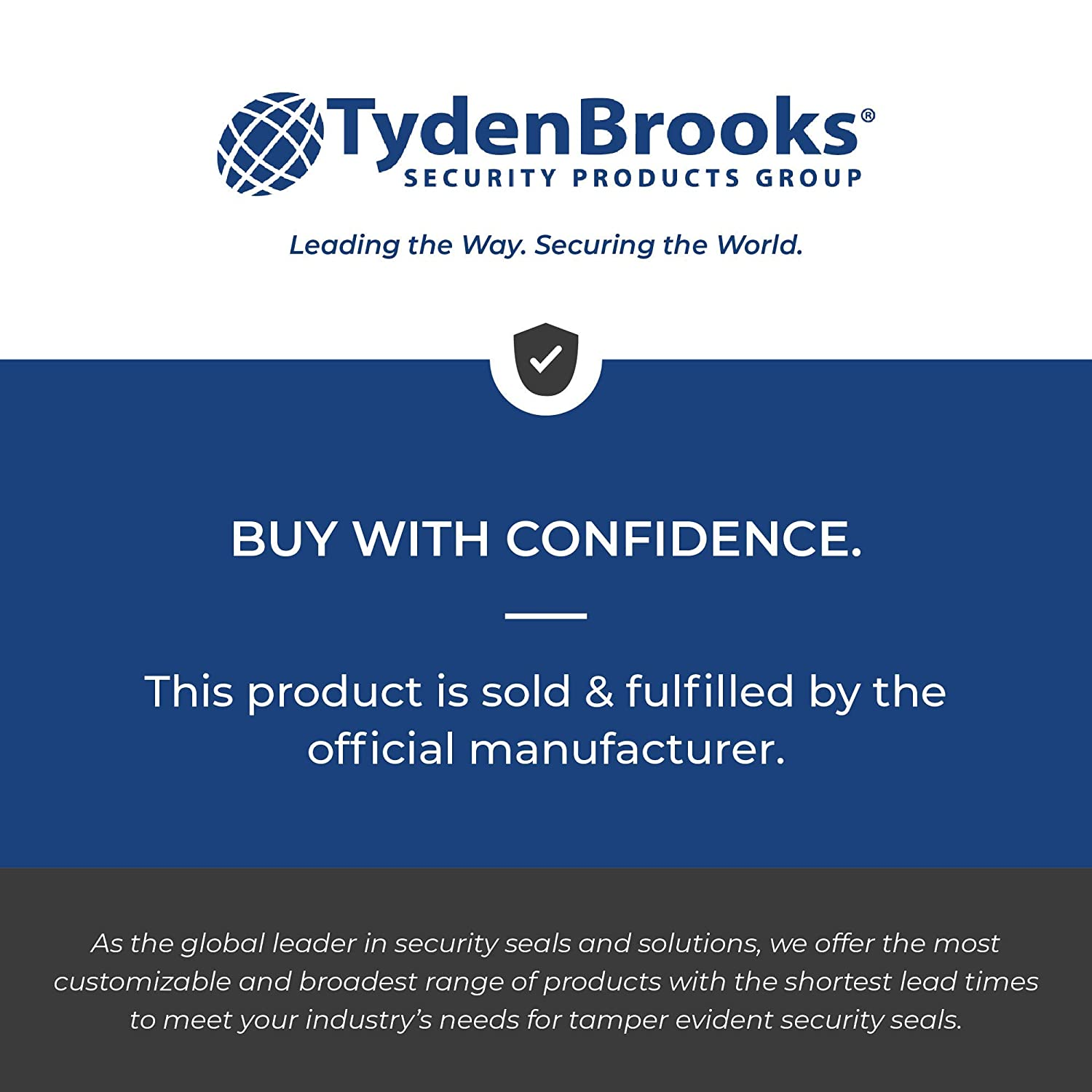 Blue FlexSecure FS15 Cable Seal TydenBrooks Security Products 200 Count