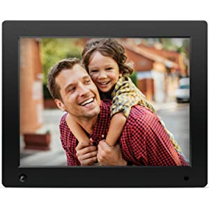 Ultra-Narrow Bezel 10.1-inch Digital Photo Frame IPS Screen 1280x800 HD Electronic Photo Frame Support USB and SD Card Remote Control Bracket