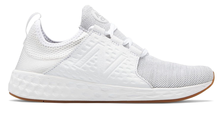 (ニューバランス) New Balance 靴シューズ メンズランニング Fresh Foam Cruz White with Silver Mink ホワイト シルバー ミンク US 9.5 (27.5cm) B07C1J8TKT