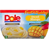 Dole Fruit 'n Pudding, Diced Mango in Mango Pudding, Healthy Snack, 123 g, 4 Cups