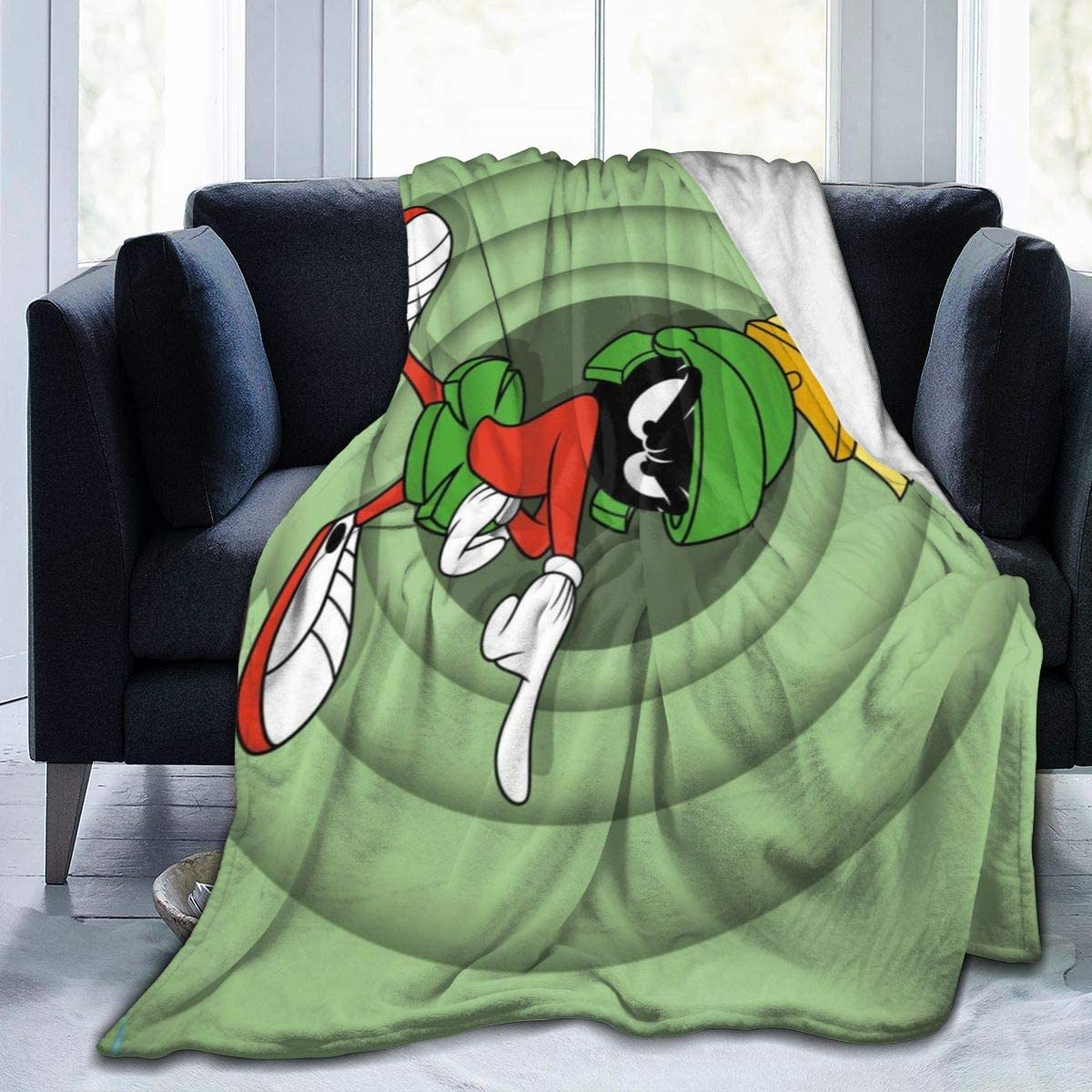 Re.membering Ultra Soft Micro Fleece Blanket Haughty Marvin-Martian Flannel Light Weight Warm Bed Blanket 3 Sizes