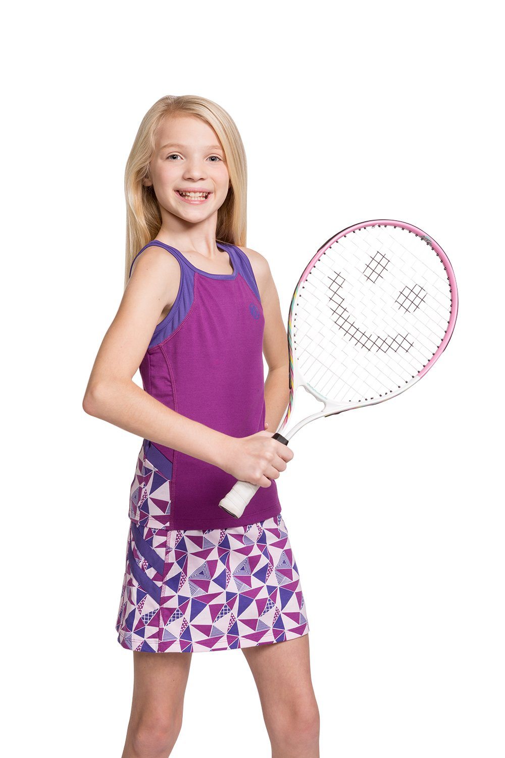 Girls Tennis & Golf Tank and Skirt Set with Built in Shorts Sparkaling Grape/Purple Size XL