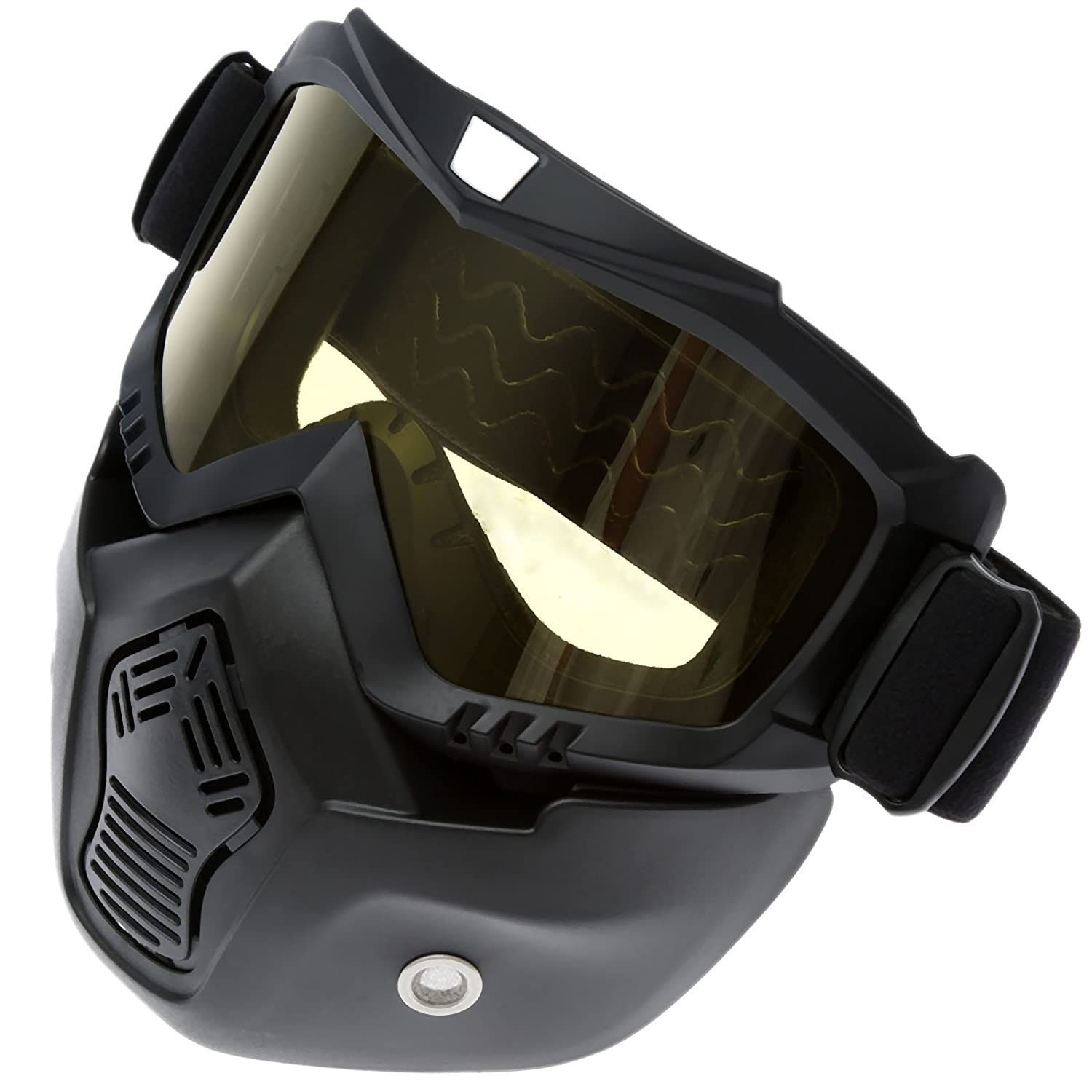 Motocross Motorcycle Helmet Goggles Double Lens Mask Anti UV Goggles Nose Face Mask Shield Glasses Clear Len