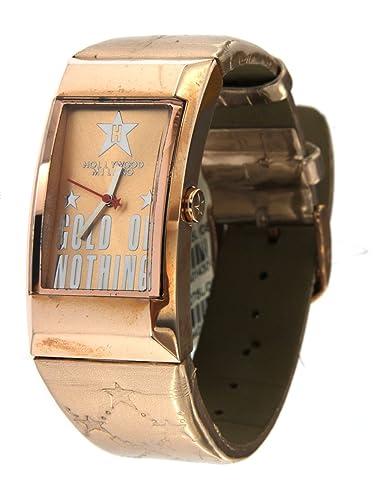 Hollywood Milano Reloj para mujer con caja de acero, correa de piel brillante Rosè referenza HM.6275l/08: Amazon.es: Relojes