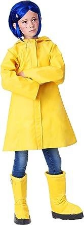 Coraline Costume For Kids Girls Coraline Storybook Yellow Rain Jacket Clothing Amazon Com