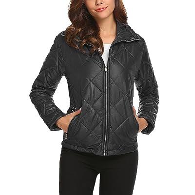 ACEVOG Women's Stand Collar Lightweight Insulated Winter Outwear Puffer Down Jacket Coats