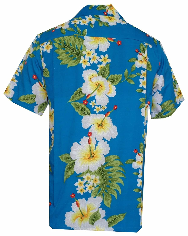 Hawaiian Camisas Mens Hibiscus Flower Fiesta Print Fiesta En La