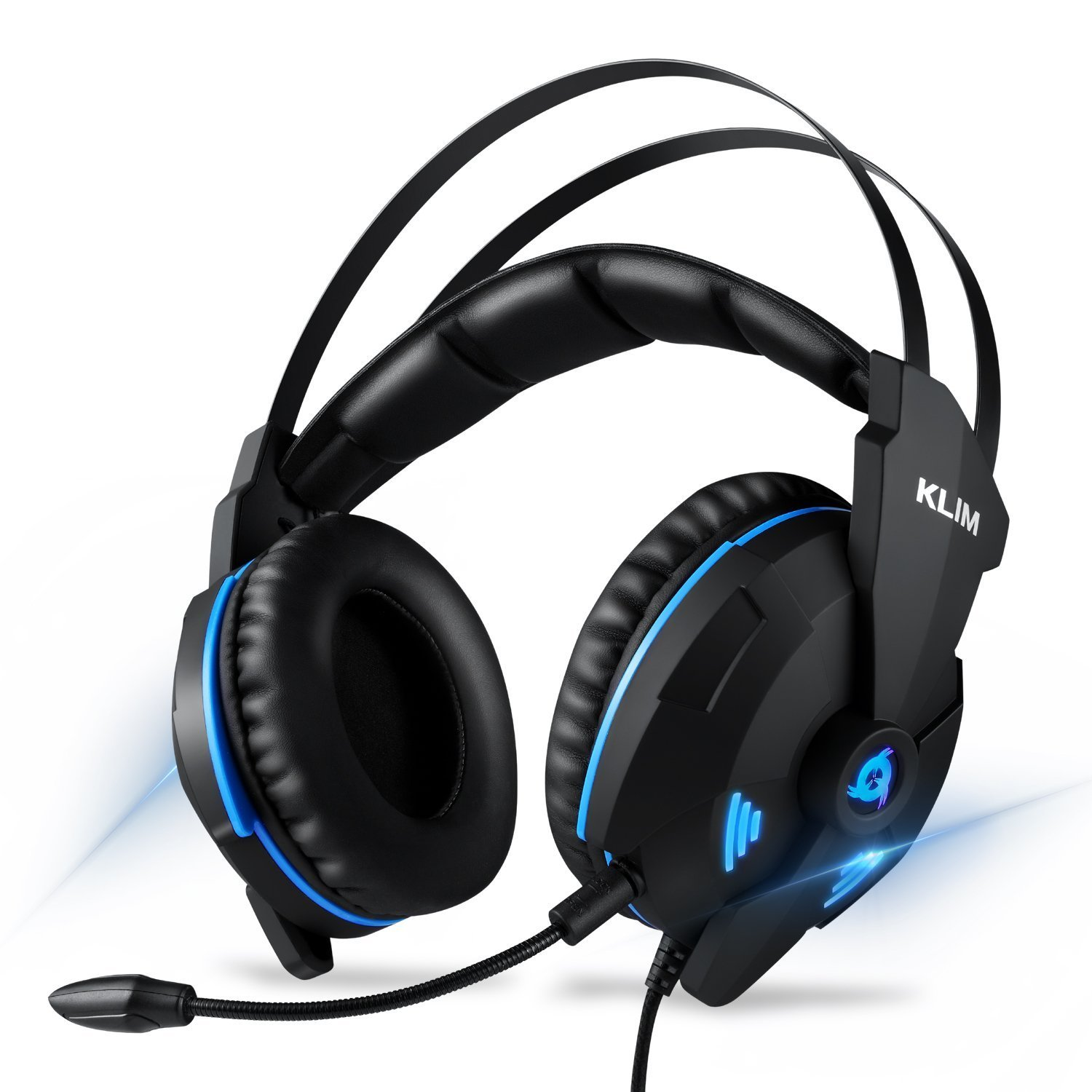 ⭐️ KLIM IMPACT - USB Gaming Headset - 7.1 Surround Sound + Noise Cancelling - High definition Audio + Strong bass - Video Games Headphones Audifonos with Microphone for PC Gamer PS4 - Noise Cancelling KLIM Technologies 207382
