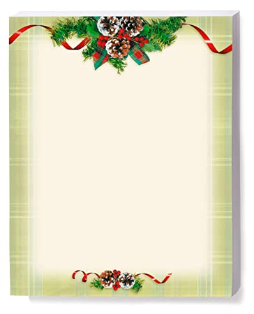photo about Printable Christmas Stationery named : Holiday vacation Stationery, Organic Plaid, 8.5 x 11, 25