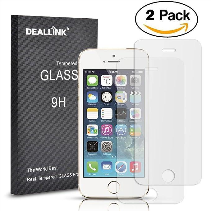9 opinioni per [2Pack] iPhone 5/5S/5C Screen Protector/Deallink in vetro temperato con alta