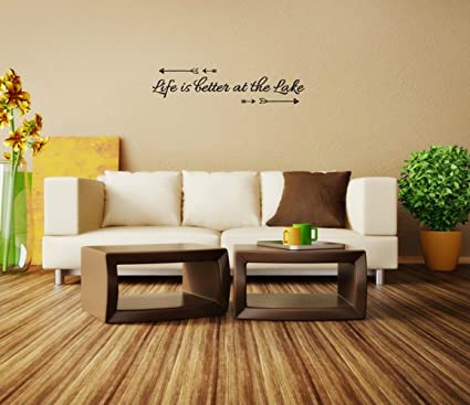 Amazon.com: Life is better at the Lake Vinyl Wall Decals Quotes ...