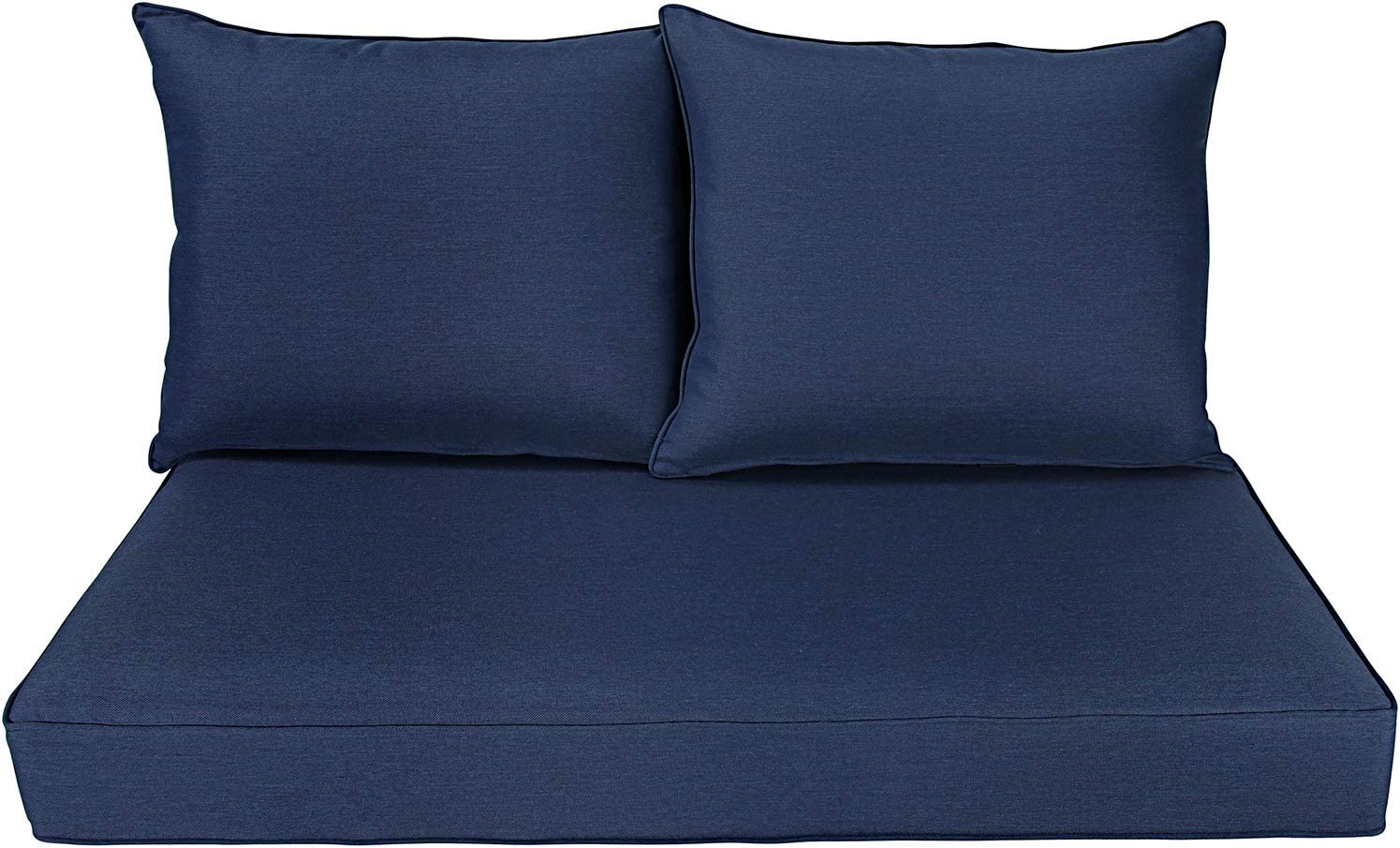 BOSSIMA Patio Furniture Cushions Comofort Deep Seat Loveseat Cushion Indoor Outdoor Seating Cushions Navy Blue