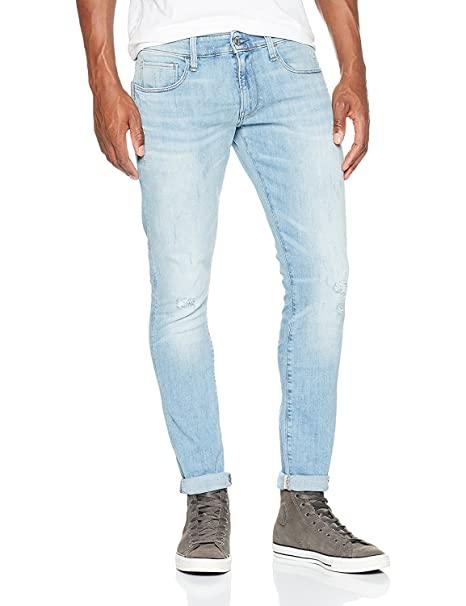 G-Star Raw 3301 Deconstructed Super Slim, Vaqueros para Hombre