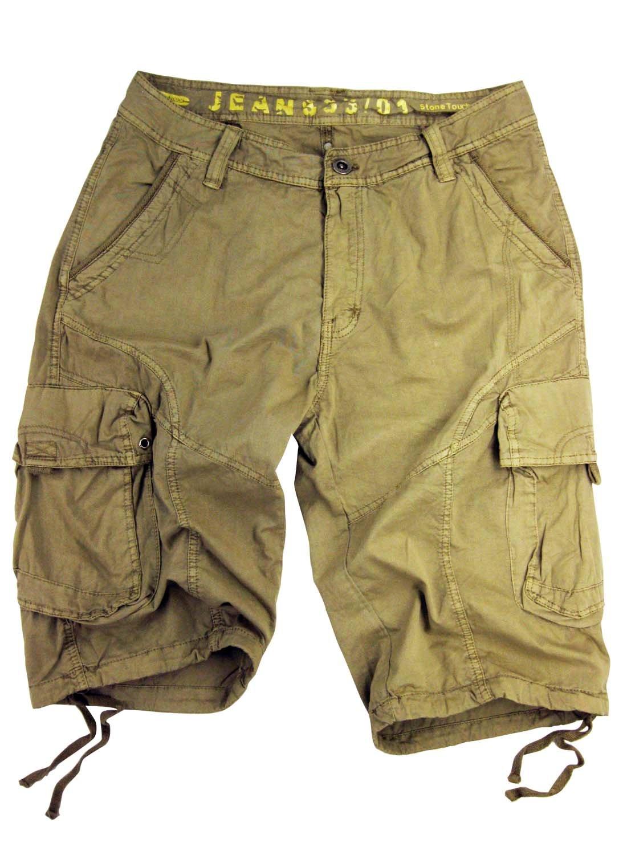 STONE TOUCH Mens Military-Style Khaki Cargo Shorts #27s Size 44