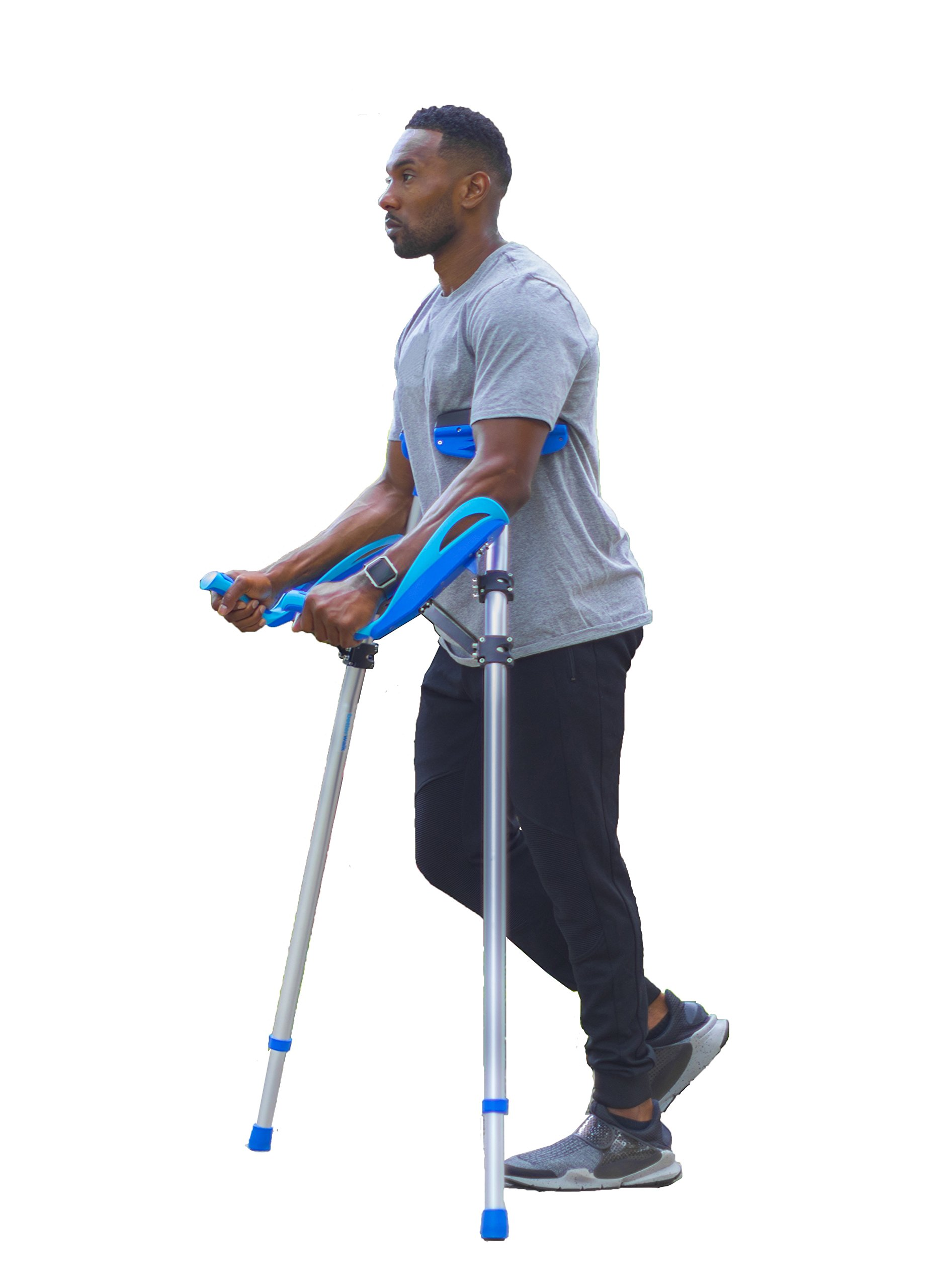 Better Walk Crutches – As Seen on Forbes, Inc, & CNN – Adjustable, Ergonomic Handles, Comfortable & Easy to Use - By BWHealth