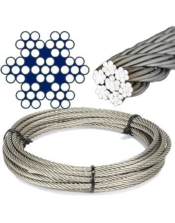 Serre-c/âble pour les Cordes Corde d/'Acier Zingu/é C/âble en acier werk STANKE 50x Serre-c/âble de Selle Simple 3mm Serre-c/âble