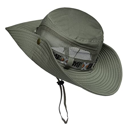 c1f5db8c LETHMIK Boonie Hat Summer Fishing Sun Hat Outdoor Camouflage Hat with Chin  Cord Army Green: Amazon.co.uk: Sports & Outdoors