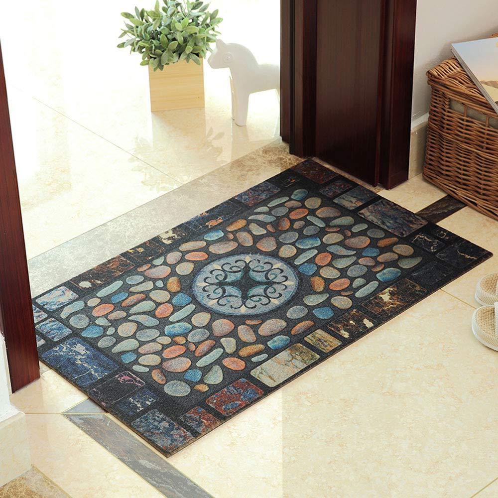 C 4368cm DDSS Door mat Floor mat - Polyester PVC Rubber Sole, wear-Resistant Anti-Slip, self-Cutting, Rectangular Home Sliding Door Porch mat - 3 colors, 2 (color   A, Size   43  68cm)