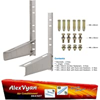 AlexVyan Special Coated Super Quality Split Ac Air Conditioner Outdoor Unit Wall Mounting Bracket Stand for 1 Ton, 1.1 Ton, 1.2 Ton, 1.5 Ton, 2 Ton Outdoor Units