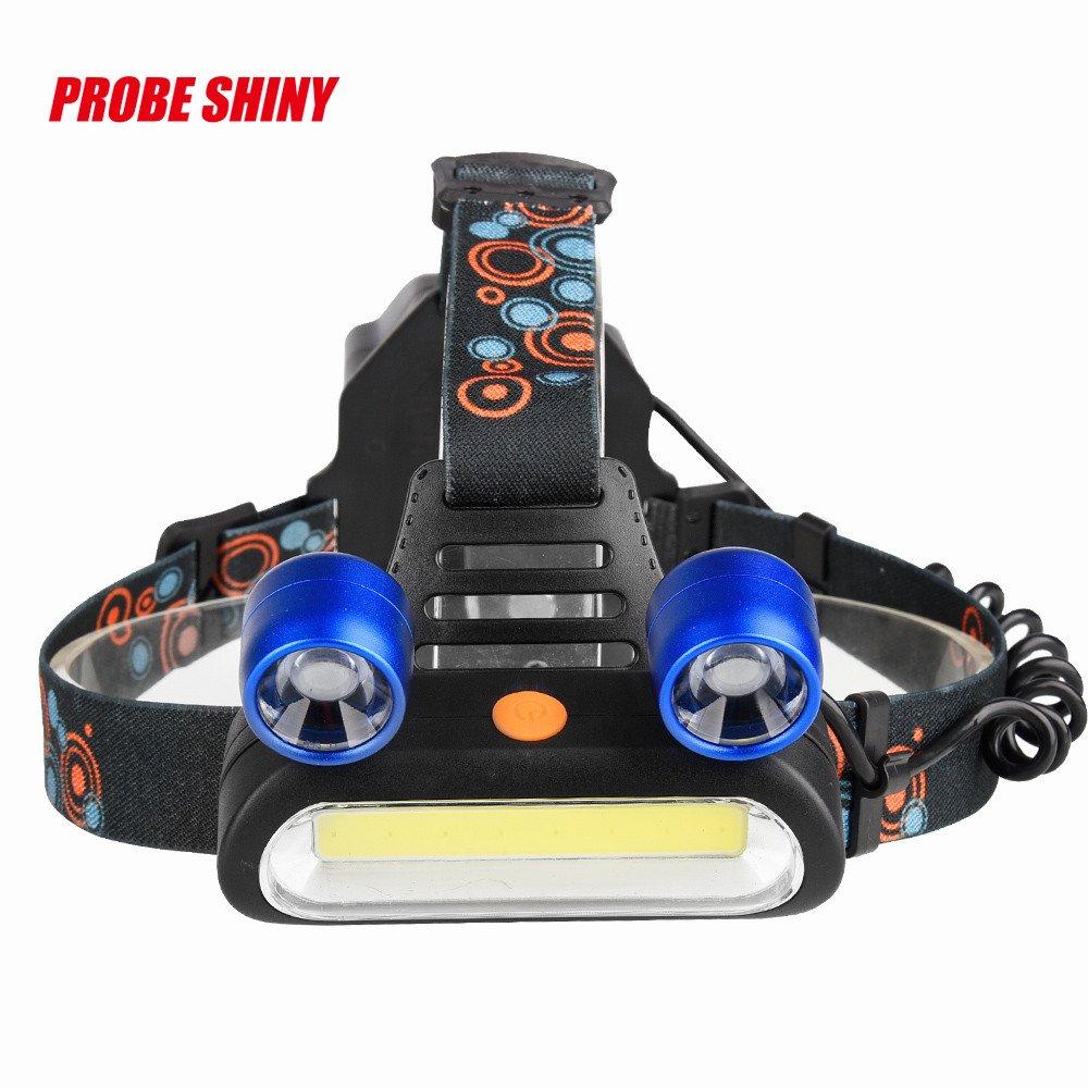 Linterna Frontal Led Alta Potencia 15000 Lúmenes Recargable USB y 1 Modos Impermeable Para Camping Pesca Ciclismo Carrera Caza (no incluida Batería) Damark(TM)
