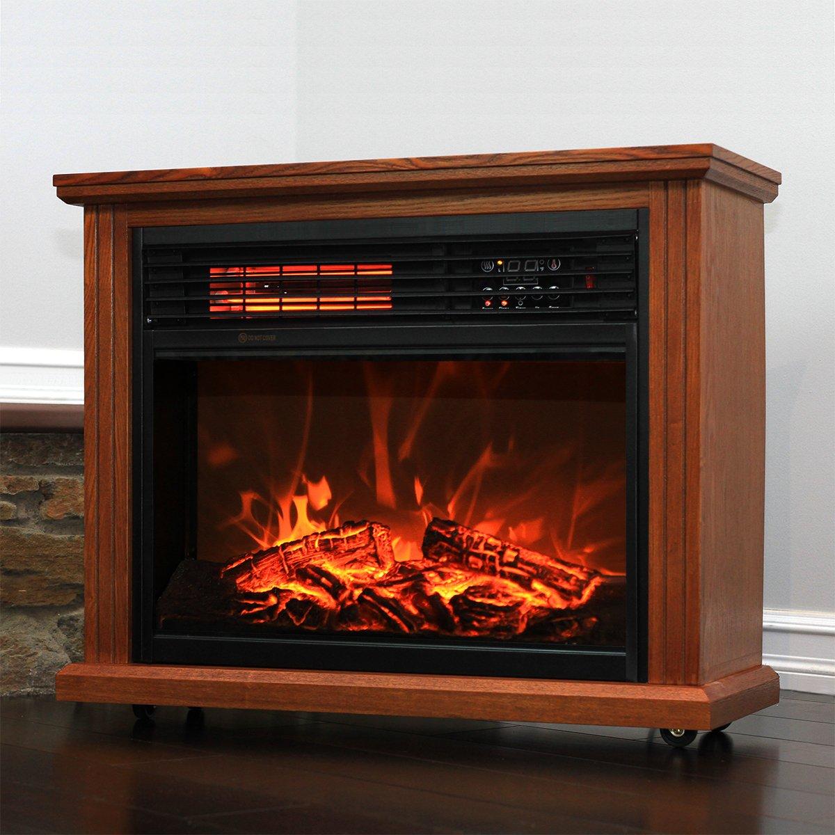 amazon com xtremepowerus infrared quartz electric fireplace