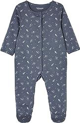 5cf2708564ff4 VERTBAUDET Lot de 2 pyjamas bébé en coton imprimé pressionnés devant Bleu  jean 1M - 54CM