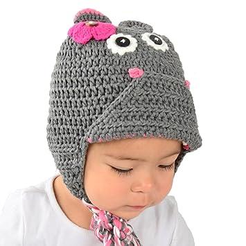 Amazon Medium Hippo Beanie Grey Hippo Hat With Ears For
