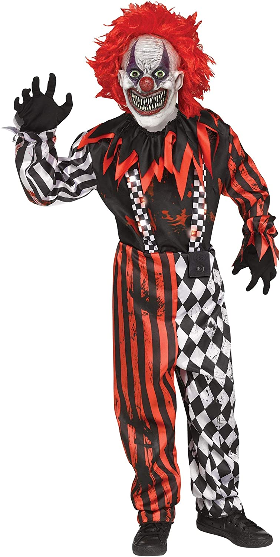 Child Freak in a Box Clown Circus Costume