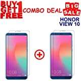 Kite Digital Honor View 10 Premium Tempered Glass Screen Protector Slim 9H Hardness 2.5D (Combo Offer)